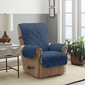 Hampton Blue 1-Piece Diamond Secure Fit Recliner Furniture Cover