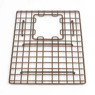 SinkSense Morgon 14 in. x 11.75 in. Bottom Grid for Kitchen Sinks Rear Offset in Antique Brown