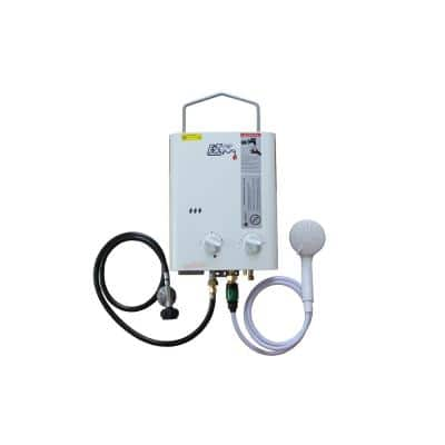 CampChamp 1.8 GPM Residential Portable LPG Propane Gas Tankless Water Heater System