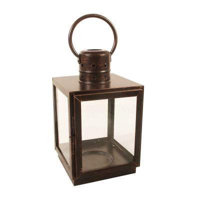 12 in. Bronze Square Small Lantern