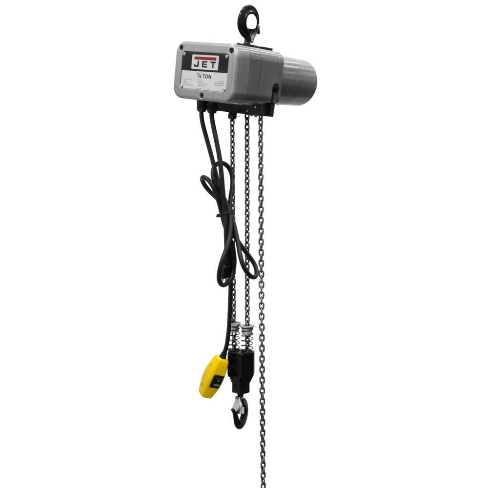 Jet JSH-550-15 1/4-Ton Capacity 15-ft Lift Electric Chain Hoist 115-Volt