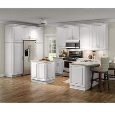 Benton Ready-to-Assemble 33x96x24.5 in. Double Oven Cabinet in White
