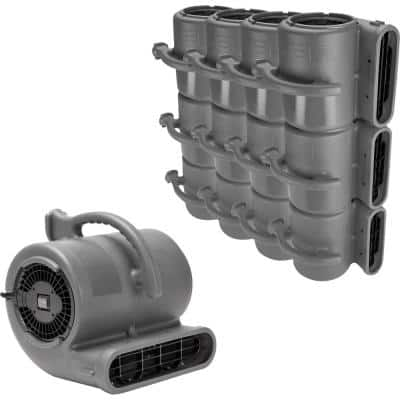 1/2 HP Air Mover Janitorial Water Damage Restoration Stack Carpet Dryer Floor Blower Fan in Grey (45-Pack)
