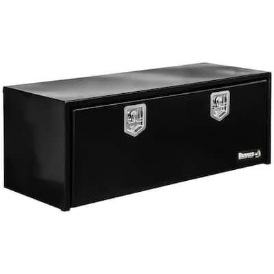 24 in. x 24 in. x 48 in. Gloss Black Steel Underbody Truck Tool Box
