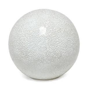 7.75 in. 1-Light White Mosaic Stone Ball Table Lamp