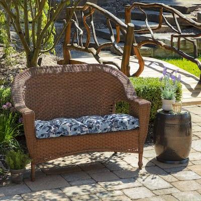 41.5 x 18 Garden Delight Contoured Outdoor Bench Cushion
