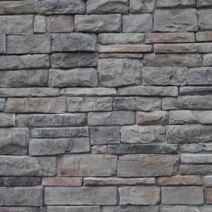 Easy Stack 1.5 in. to 4 in. x 5 in. to 9 in. Highland Mortared on Concrete Ledge Stone Flat 150sq.ft. Crated