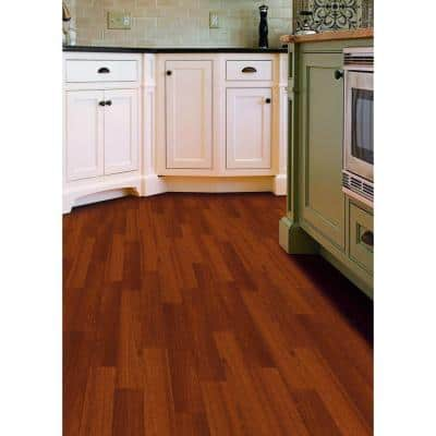 Matte Chamois Mahogany 3/8 in. Thick x 5 in. Wide x Varying Length Click Lock Hardwood Flooring (19.686 sq. ft. / case)