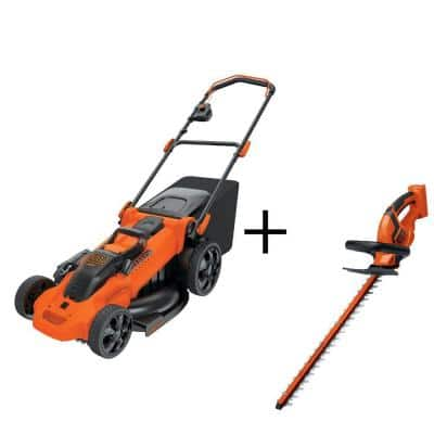 40-Volt MAX Lithium-Ion Cordless 20 in. Walk Mower and Hedge Trimmer Combo Kit (2-Tool) with 2.5Ah Batteries and Charger