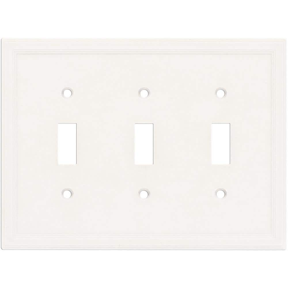Hampton Bay White 3 Gang Toggle Wall Plate 1 Pack Swp1106 18 The Home Depot