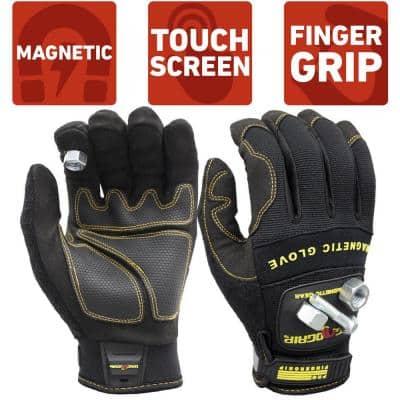 Pro FingerGrip Medium Magnetic Glove with Touch-Screen Technology
