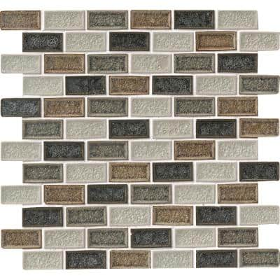 Sandy Beaches Blend 12 in. x 12 in. x 8mm Glass Mesh-Mounted Mosaic Tile (10 sq. ft. / case)