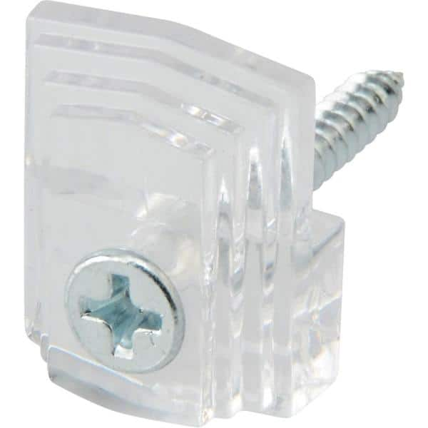 20 Lb Plastic Mirror Holder 4 Piece, Clear Plastic Mirror Clips