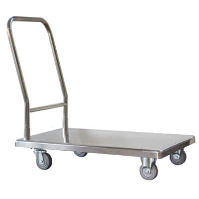 500 lbs. Capacity Stainless Steel Platform Truck Utility Cart