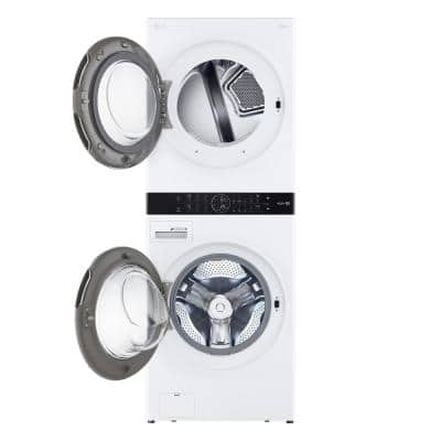 27 in. White WashTower Laundry Center with 4.5 cu. ft. Washer and 7.4 cu. ft. Gas Dryer
