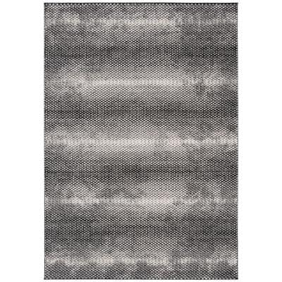 Lurex Black/Ivory 9 ft. x 12 ft. Abstract Area Rug