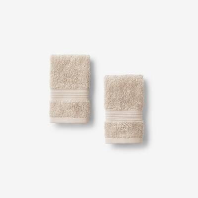 Legends Regal Linen Solid Egyptian Cotton Wash Cloth (Set of 2)