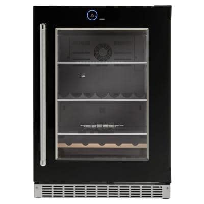 24 in. 5.0 cu. ft. Freezerless Built-In Refrigerator in Black