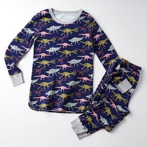 Family Snug-Fit Company Organic Cotton Women's Small Pajama Set in Dino