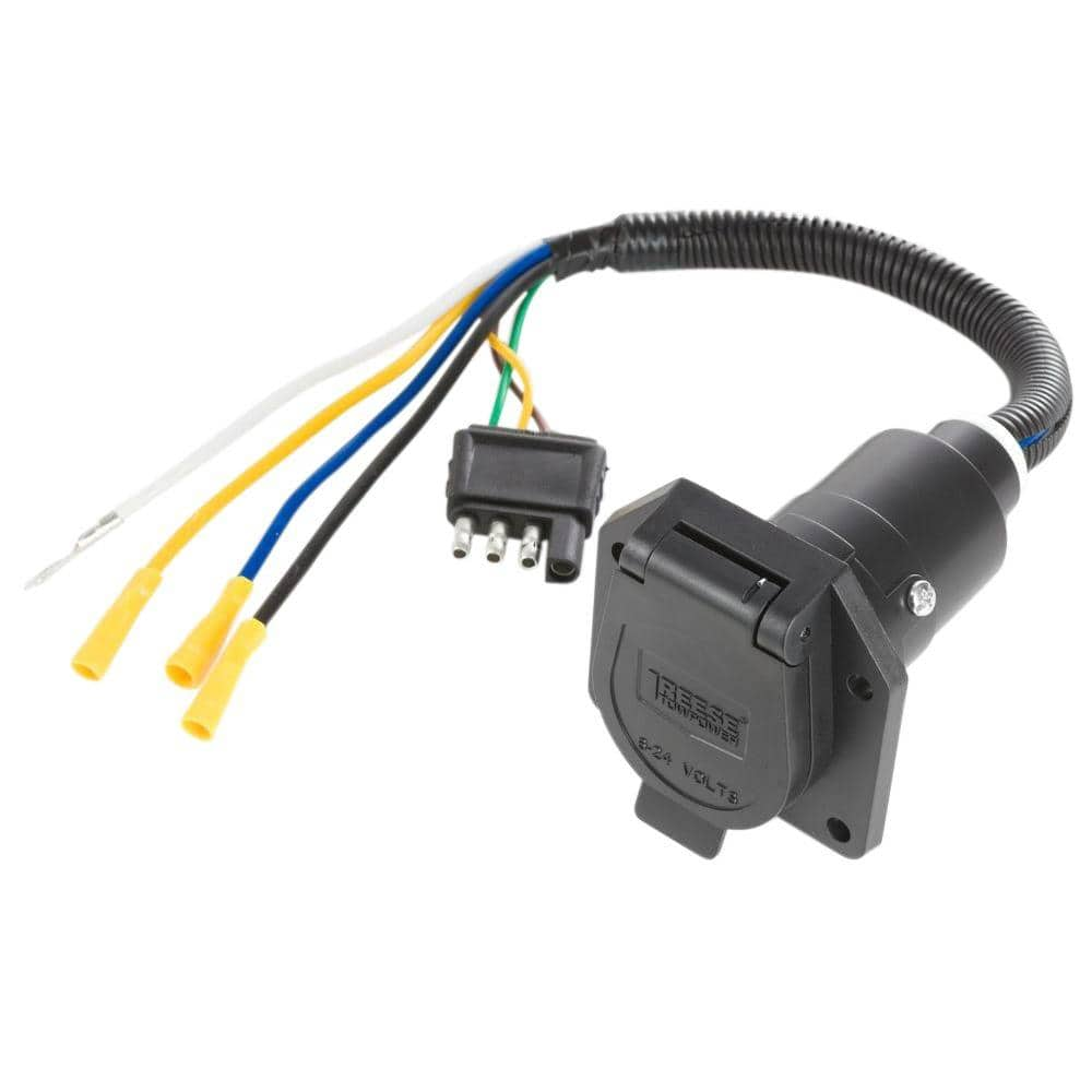 Reese Towpower Pre-Wired 7-Way Blade Connector-7418411 - The Home Depot | Reese Wiring Diagram |  | The Home Depot