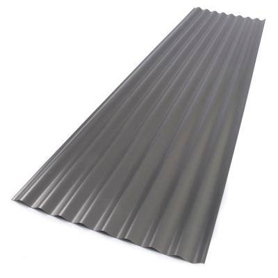 26 in. x 8 ft. Foamed Polycarbonate Corrugated Roof Panel in Castle Grey