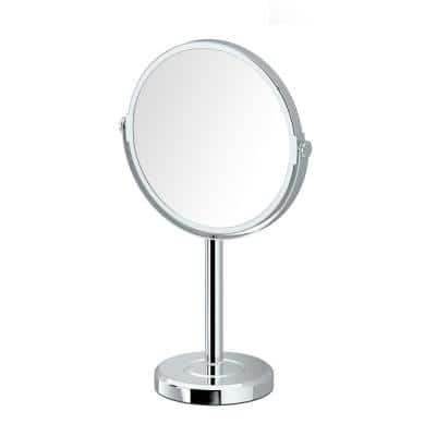 Latitude II Minimalist 12.5 in. Countertop 3x Magnification Makeup Mirror in Chrome