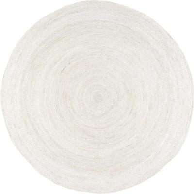 Rigo Chunky Loop Jute Off-White 3 ft. Round Rug