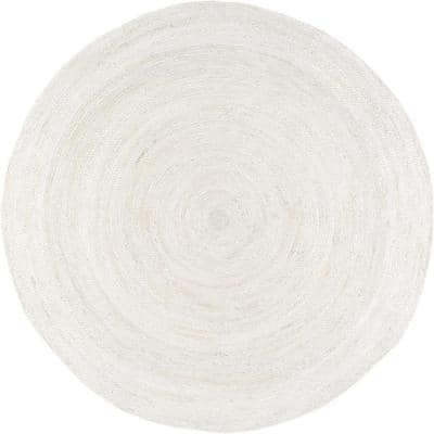 Rigo Chunky Loop Jute Off-White 7 ft. Round Rug