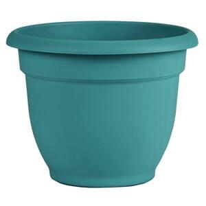 Ariana 21.5 in. Bermuda Teal Plastic Self-Watering Planter