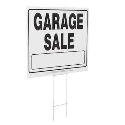 20 in. x 24 in. Corrugated Plastic Garage Sale Sign