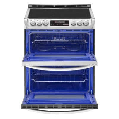 7.3 cu. ft. Smart Double Oven Electric Range, Self-Cleaning, Convection and Wi-Fi Enabled in Stainless Steel