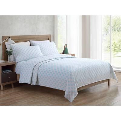 Bedding Sheet Set, Paisley - Aqua, 4pc Full