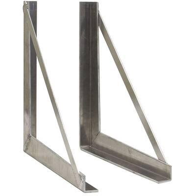 24 in. Aluminum Tool Box Mounting Bracket Kit