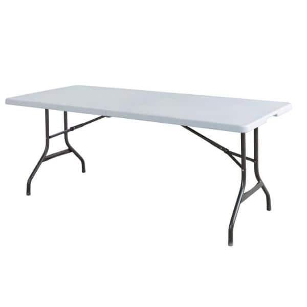 Hdx 72 In White Folding Banquet Table Tbl 072 The Home Depot