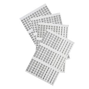 1-48 Numbers Wire Marker Book