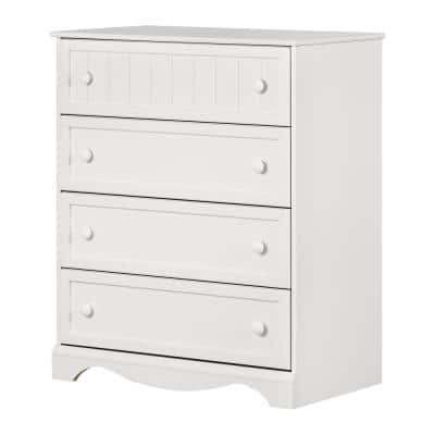 Savannah 4-Drawer Pure White Chest