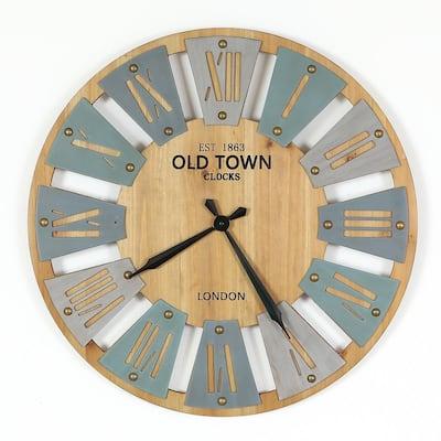 23.6 in. Dia MDF Windmill Wall Clock