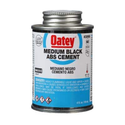 4 oz. Medium Black ABS Cement