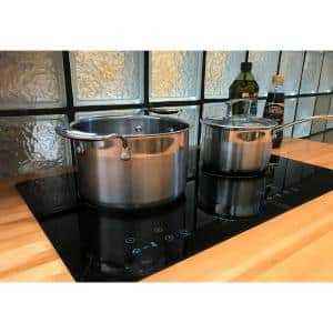 24 in. Glass Induction Cooktop in Black with 2 Induction Elements