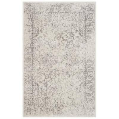 Adirondack Ivory/Silver 3 ft. x 4 ft. Area Rug