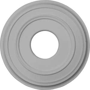 12-3/8'' x 4'' I.D. x 1-1/8'' Classic Urethane Ceiling Medallion (Fits Canopies upto 7-1/4''), Primed White