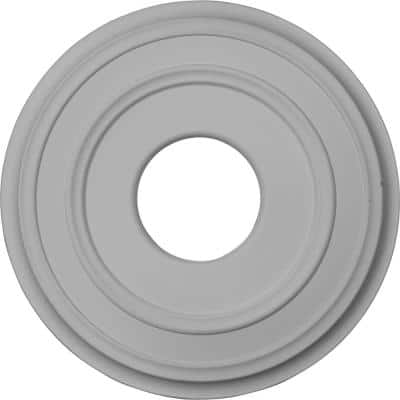 """12-3/8"""" x 4"""" I.D. x 1-1/8"""" Classic Urethane Ceiling Medallion (Fits Canopies upto 7-1/4""""), Primed White"""