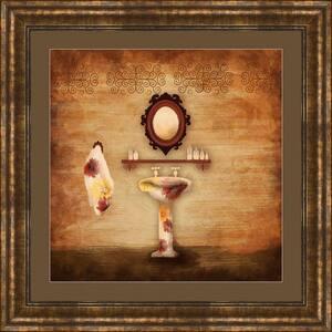 17-1/4 in. x 17-1/4 in. ''Poppy Bath B'' Framed Wall Art