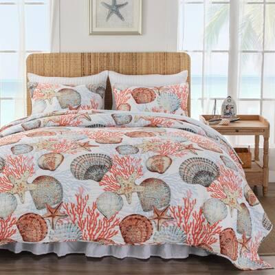 Beach Days 2-Piece Cotton Blend Twin/XL Quilt Set