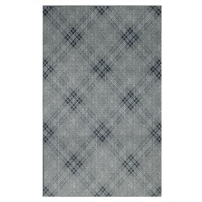 Russell Grey 8 ft. x 10 ft. Plaid Area Rug