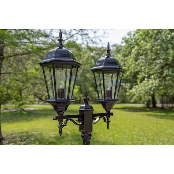 Kenroy Home Villa Bronze Portable Post, Outdoor Portable Lamp Post