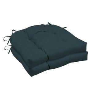 Atlantis Woven Outdoor Tufted Seat Cushion (2-Pack)