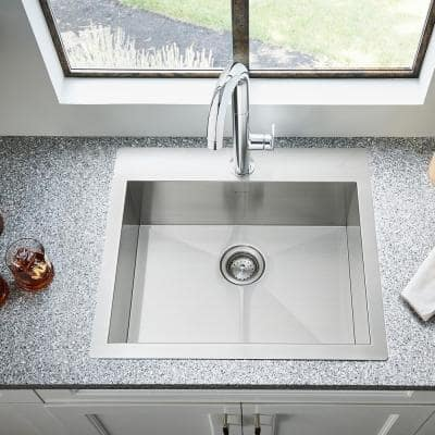 Beale Single-Handle Pull Down Bar Faucet in Stainless Steel