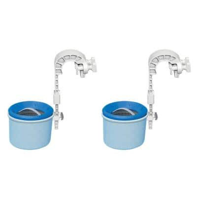Deluxe Wall-Mounted Swimming Pool Surface Automatic Clean Skimmer (2-Pack)