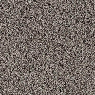 Kind Heart - Color Fedora Grey Textured 12 ft. Carpet